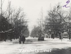 Вършец - Алеята с чинарите (зима) - Вършец